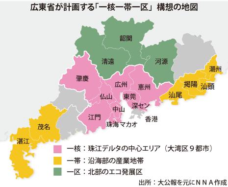 広東が「一核一帯一区」構想 イノベ強省実現に新戦略 - NNA ASIA・香港 ...