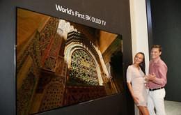 LG電子が独家電見本市「IFA2018」で公開する8K画質の有機ELテレビ(同社提供)