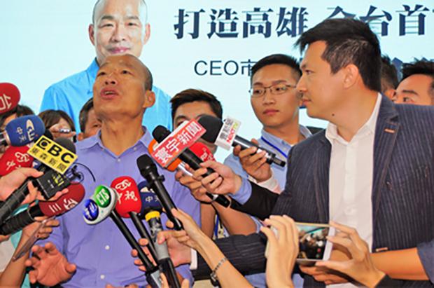 韓・次期高雄市長、中台関係強化の意向