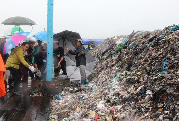 ヤンゴンのごみ処理に一役 埋め立て場に「福岡方式」導入